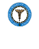 Board certified - American board of otolaryngology logo